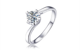 钻石海洋—陪伴—50分四爪扭臂求婚结婚钻戒