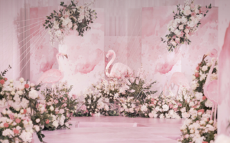 【巧目婚礼】爱的告白礼丨粉色大理石  如烟若梦