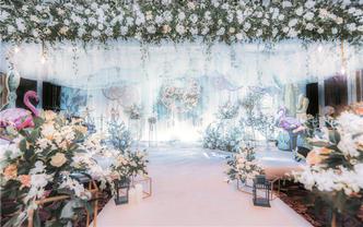喜洋洋婚礼策划《白金色INS风》含四大和灯光音响