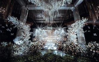 【萧山埃菲尔婚庆】香槟白梦幻西式婚礼