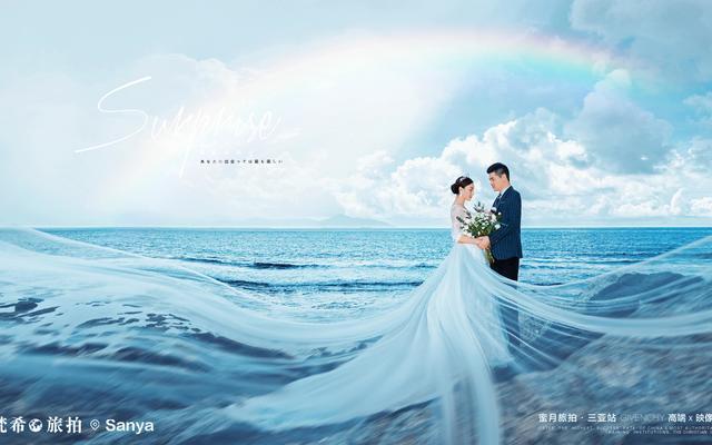 【纪梵希三亚真实客片】张先生-刘小姐-礁石飘纱