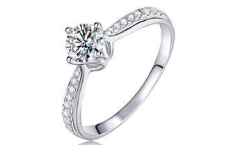 钻石海洋—动人—50分四爪求婚结婚钻戒