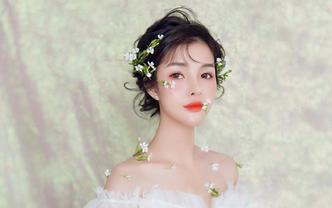 【菲度】武汉市内资深档全程新娘跟妆提供所有头饰
