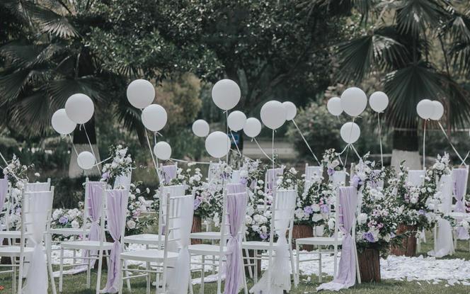 【NI婚礼】清新白绿户外婚礼包含四大金刚