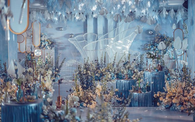 【斯里兰卡】(西式室内)暗场立体空间造型婚礼