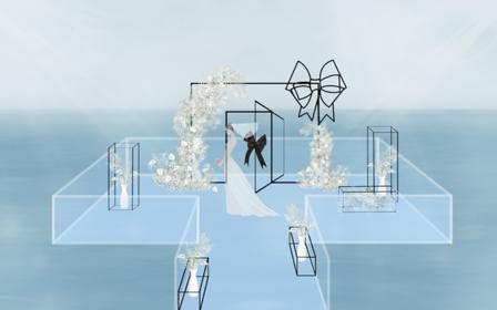 三亚水台婚礼套系 场地+婚房布置+仪式布置+四大
