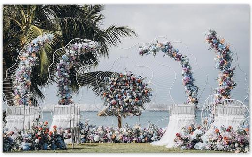 三亚「绽放」海边草坪婚礼套系