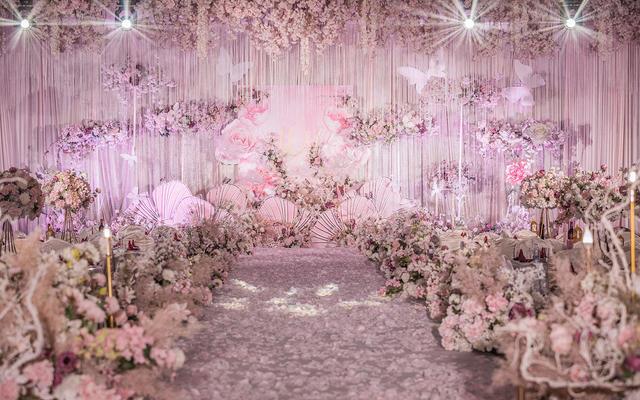 粉紫色唯美婚礼,不看看这场怎么行?