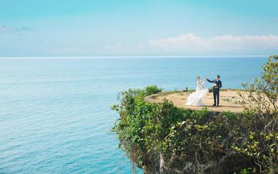 爱旅拍巴厘岛•客照欣赏•海上悬崖•刘&温