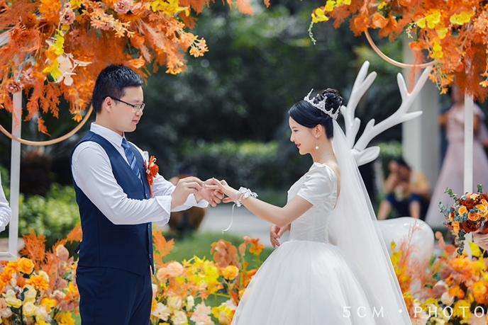 温馨户外婚礼,全程自己策划