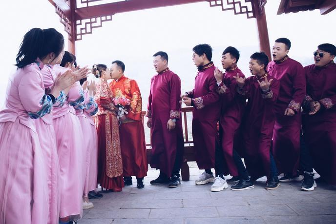 农村户外婚礼,感谢天气眷顾,哈哈