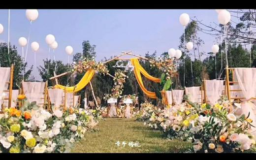 户外草坪婚礼,低预算,性价比高,爱了爱了