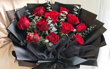 520表白花束(11支玫瑰花:我爱你一生一世)