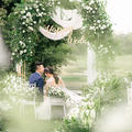 夏季清凉婚纱怎么选?草坪婚礼选纱经验