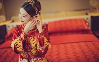 三亚总监档化妆师婚礼半天跟妆2妆造唯美中式送亲友