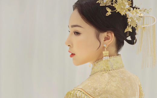 绝美中式造型|JONAS MA 高端婚纱美妆定制