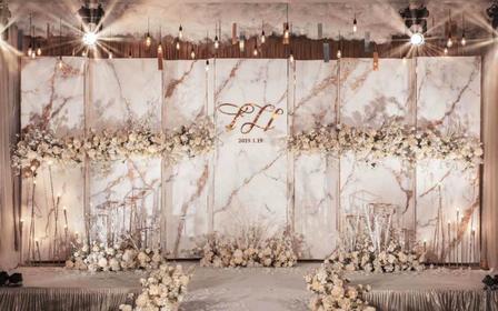 【一禧婚礼策划】大气香槟色主题系列婚礼