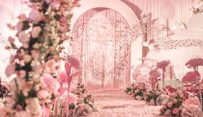 【洛禧】粉色少女网红风主题婚礼