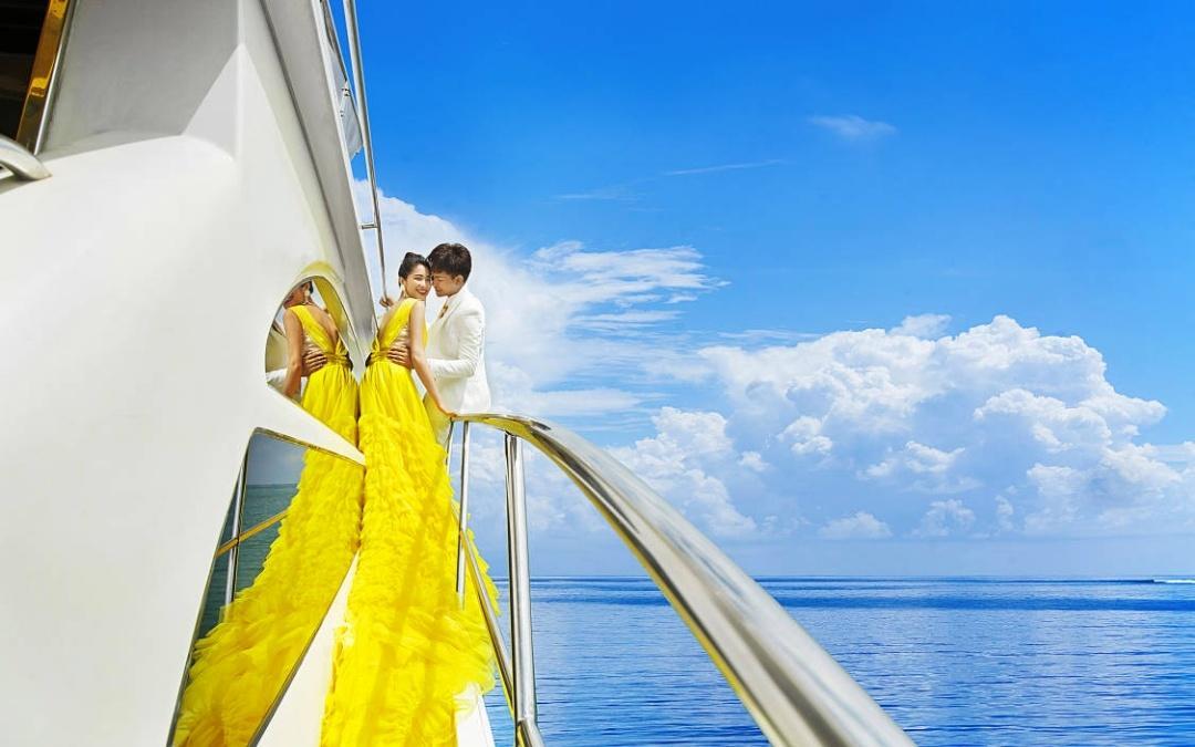 慕辰婚纱全球旅拍一一一豪华游艇照限时只需3999
