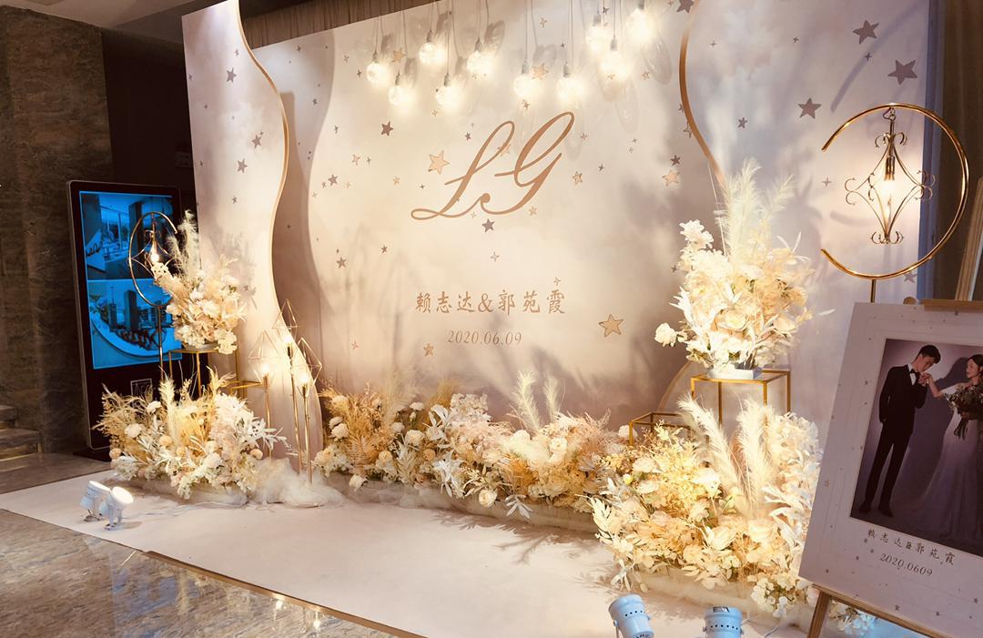 梅州婚礼酒店简约香槟色婚礼