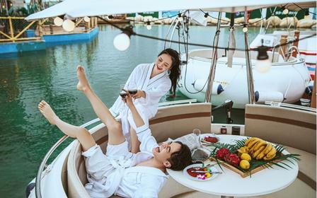网红三亚海昌不夜城海底餐厅+摩天轮+水上餐厅