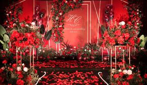 好合婚礼策划|红色主题简约大气婚礼|包含摄像主持