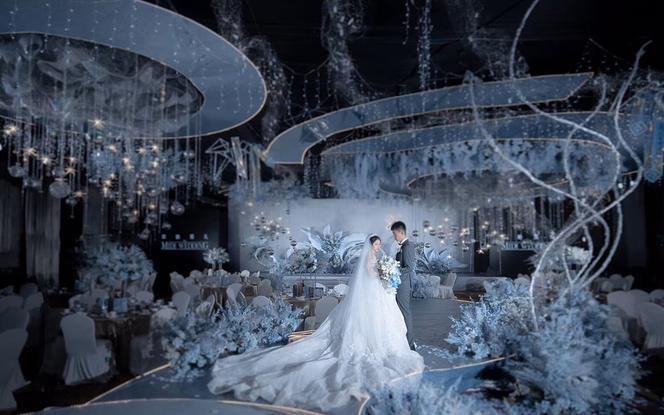 【米迪婚礼】《微光》— 神秘美好蓝色浪漫婚礼
