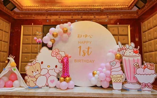 【千色阁】-粉粉的宝宝宴布置套餐