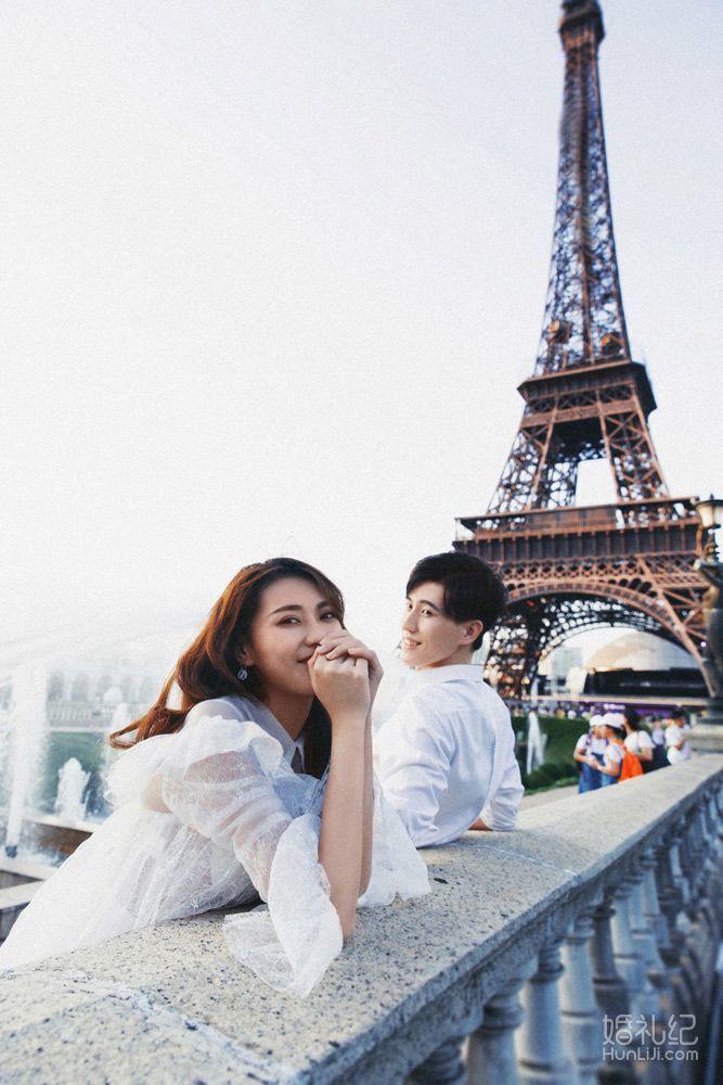 婚照分享[两眼放光]假装在巴黎街头漫步