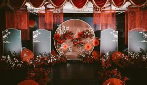 嘉蓝婚礼|红灰色江南风精致大气唯美高级新中式婚礼