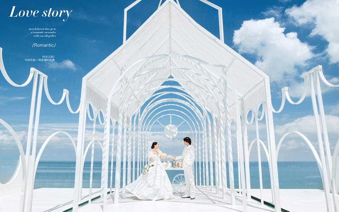 北海高端旅拍婚纱照爱琴海多个网红景点底片全送