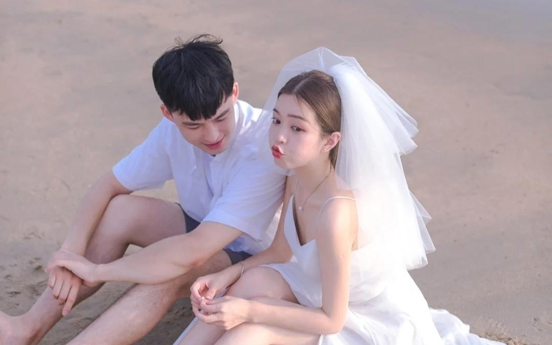 布兰卡之恋 温柔清新的海边婚纱照