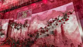 【风缘】复古风水彩晕染红色婚礼|包含四大金刚