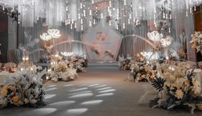 【夏天的回忆】香槟浅灰色婚礼婚宴策划布置