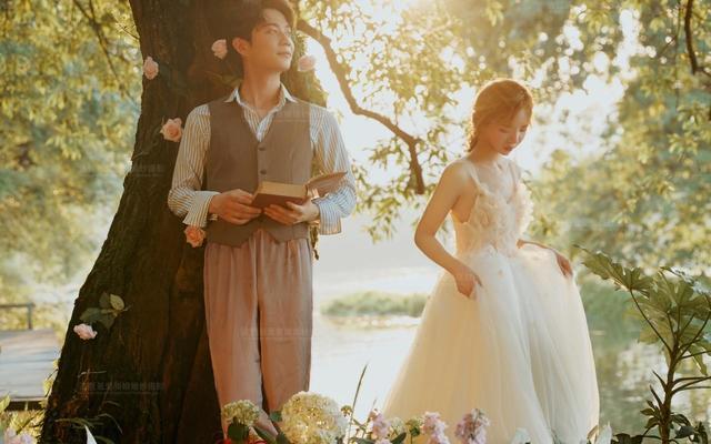 #恋与流年#韩式超仙落日花景婚纱照