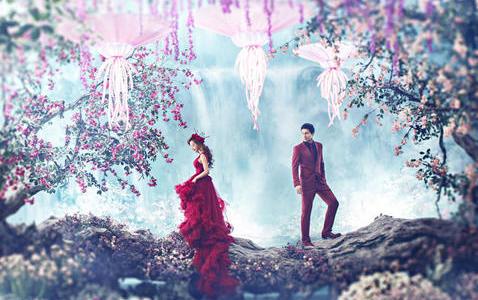 婚礼紫色现场