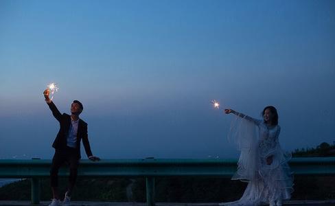 婚纱照夜景