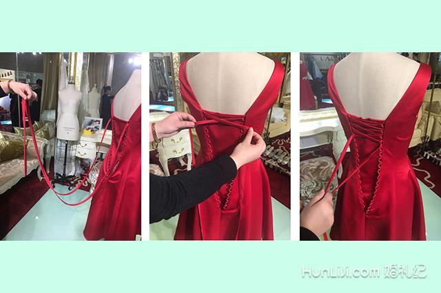 婚纱图解_婚纱绑带的系法图解