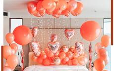 结婚房间气球布置图片
