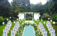 草坪婚礼布置效果图