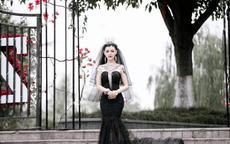 黑婚纱图片及寓意