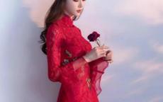 2019红色敬酒服新娘发型