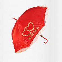 结婚新娘喜庆大红色婚庆红伞