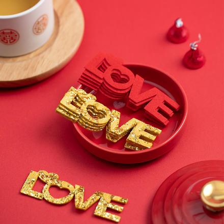 【20个装】婚房布置LOVE款迷你喜字