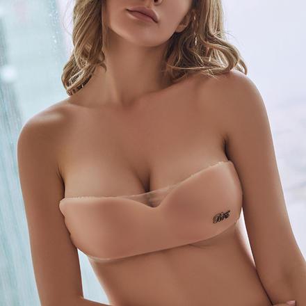 性感升级一片式无痕硅胶聚拢隐形内衣