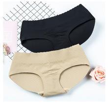 一片式无痕女式提臀收腹加厚低腰内裤