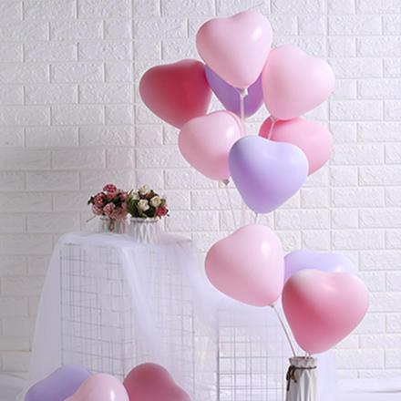 马卡龙心形气球100个