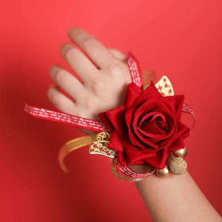 仿真蕾丝束带手腕花