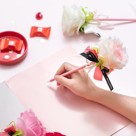 仿真玫瑰签到笔