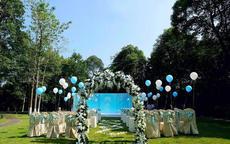 草坪婚礼的图片以及价格情况